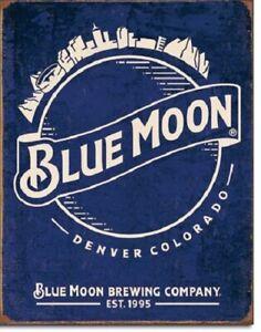 New Blue Moon - Skyline Logo Retro Decorative Metal Tin Sign