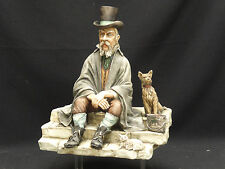 VINTAGE SIGNED L. MOTTA WORKS OF ART ITALY CERAMIC STREET VENDOR MAN FIGURINE