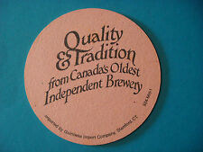 Beer Coaster Mat: Moosehead Canadian Lager ~ Canada's Oldest Independent Brewery