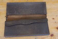 Ancienne sacoche à main en cuir pour papiers vintage