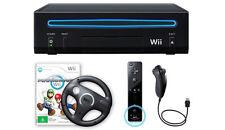 Nintendo Wii Console Black + Mario Kart Wii Bundle PAL AUS *BRAND NEW!!*