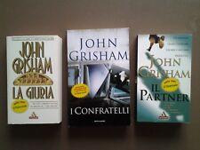 JOHN GRISHAM, TRE LIBRI: LA GIURIA, IL PARTNER, I CONFRATELLI