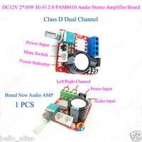 D Class Stereo Audio Power Amplifier Board Dual Channel 2*10W DC12v Hi-Fi Module