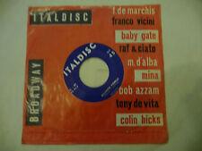 """PIER CHINI""""CHISSA'/QUANDO VORRAI-disco 45 giri ITALDISC It 1959"""" RARISSIMO"""
