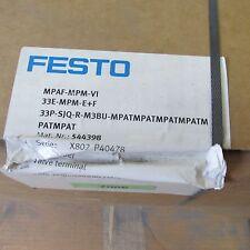 FESTO MPAF-MPM-VI, 33E-MPM-E+F MANIFOLD ASSEMBLY: 33P-SJQ-M3BU-MPAT (MPAT X6)