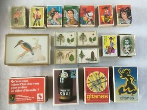 18 x vintage French match boxes, large and small, some unused #40