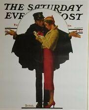 "Norman Rockwell Vintage Poster Print 17"" x 22"" 1932 boulevard haussman Z"