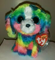 Ty Beanie Boos - LOLA the Rainbow Dog (6 Inch)(Claire's Exclusive) NEW MWMT