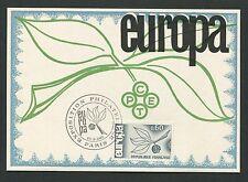 France MK 1965 Europe CEPT EXPO PARIS maximum Carte CARTE MAXIMUM CARD MC d5300