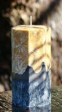 200hr MOROCCAN SANDALWOOD, LEATHER & OAK Masculine Scented Natural Pillar CANDLE
