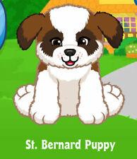 Webkinz St Bernard Puppy ( unused code only ) !CREDIBLE Proven Seller!