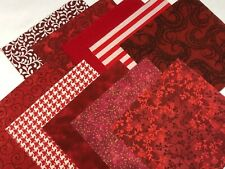 """40 5"""" Quilting Fabric Squares  PreCut Quilting Charm Pack Real Red"""