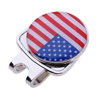 Portable Alloy Ball Marker with Magnetic Hat Clip Golf Glove Golfer Gifts