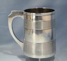Circa 1850's J. Baron Coin Silver Large & Heavy Drinking Mug