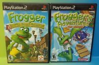 Frogger Quest + Rescue Adventures  -PS2 Playstation 2 Game Lot Tested Complete