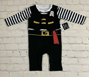 Pirate Coverall Outfit Halloween Costume Baby 3-6 Months One Piece NWT