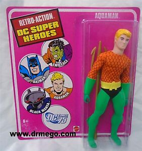 Aquaman Mattel Retro Action DC Superheroes mego style