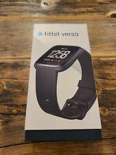 Fitbit Versa Smartwatch, Black/Black Aluminium Original Box