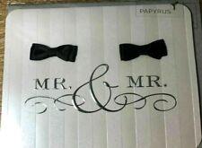 Papyrus Wedding Card - Same-Sex Gay Mr. & Mr. with Black Satin Bow-Ties