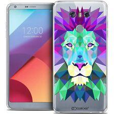 Coque Housse Etui Pour LG G6 Polygon Animal Souple Fin Lion