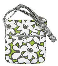 Crossbody Messenger Bag Sling Green Floral Daisy Daisies Design Iota NEW