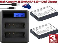 OEM LP-E10 camera battery for Canon + Dual Battery Charger