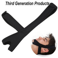 Black Snore Stop Belt Anti Snoring Cpap Chin Strap Sleep Apnea Jaw Solution Hot