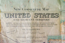 RARO - 1925 - New comercial map of the UNITED STATES - Postal estados unidos