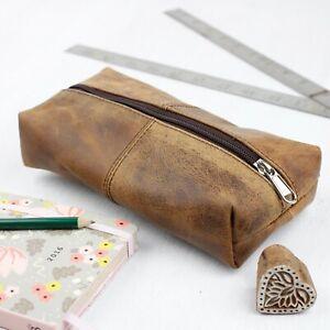 Scaramanga Leather Make Up Case