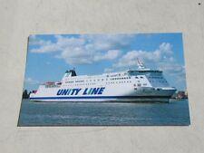 Polonia - Unity Line -Prom Ferry Ship Fährschiff Boat postcard
