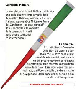 Fiamma Marina Militare italiana cm 8x70 perlon lana