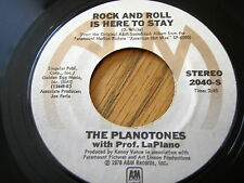 """THE PLANOTONES - ROCK AND ROLL IS HERE TO STAY  7"""" VINYL"""
