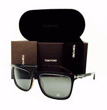 New Tom Ford Sunglasses Karlie TF 392 01R Black/Green Polarized 57•17•140 W/Case