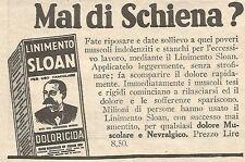 W7348 Mal di schiena ? - Linimento SLOAN - Pubblicità del 1932 - Old advertising