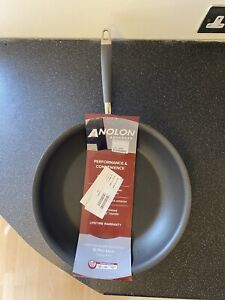 Anolon 32cm Frying Pan Skillet - Advanced Hard Anodised Aluminium, Non-Stick