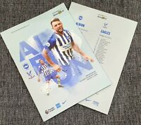 Brighton v Crystal Palace Matchday Programme 29/2/20! M23 DERBY!!!