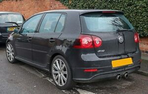 Volkswagen Golf R32 Breaking 2005-2009 Black Tailgate FRONT WHEELS LEATHERS DOOR