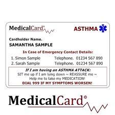 MedicalCard Medical Alert Card: Ashtmatic - PVC Card!