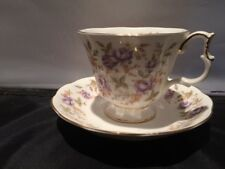 Vintage Royal Albert Purple Lace Cup and Saucer