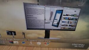 AOC U3477PQU Ultrawide 34 inch 3440x1440 IPS monitor