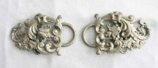 "Elegant Antique Silver-tone 19th Century Victorian Baroque Belt Buckle 5"""