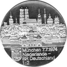 """Medaille """"München 7.7.1974 - Niederlande - BRD 1:2"""" Stempelglanz Silber 999,9"""