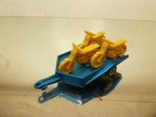 "LESNEY 791 A2 MOTOR-CYCLE TRAILER - BLUE METALLIC ""MATCHBOX"" - GOOD CONDITION"