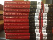 Children's Britannica. Library copy, Good Condition. 20 Volumes. Red. 1994