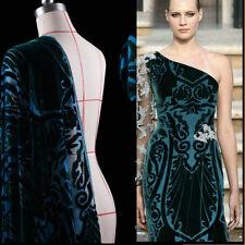 Printed Silk Velvet Fabric use Burnout Silk velour dress Half meter