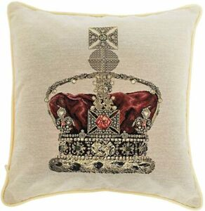 NEW DESIGN Signare Tapestry Cushion CROWN