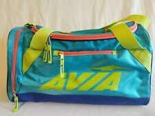 """Avia Shoulder Mini Duffle Bag 18"""" Gently Used Carry All Gym Teal Green Polyester"""