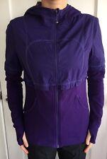 LULULEMON Size 10 Seek A Peak Purple Dance Studio Jacket Hoodie EUC Reversible