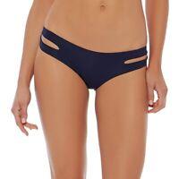 L*Space 149566 Estella Navy Blue Bikini Bottom Women's Size Medium