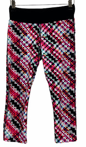 Running Bare Womens Multicoloured Check Athletic Running Yoga 3/4 Pants Size 8